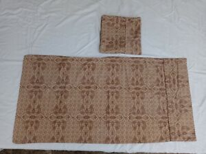 2 (Pair) VERATEX Beige Brown Paisley King Size Pillow Cases 100% Cotton Sateen