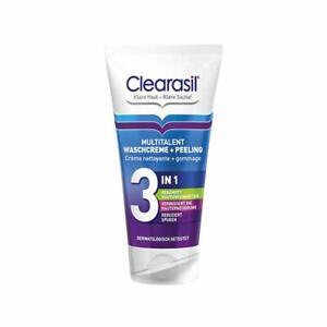 Clearasil Multitalent Waschcreme & Peeling gegen Unreinheiten Pickel 3x 150 ml