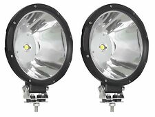 "Two 9"" Diameter 30 Watt COB LED Off Road Spot Driving Lights 12/24V 4000 Lumens"