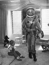 FOTOGRAFIA ORIGINALE D'EPOCA,Jayne Mansfield, Astronauta,luna,suo figlio Miklos