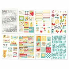 Simple Stories Summer Days Collection Cardstock Stickers 9117 2017
