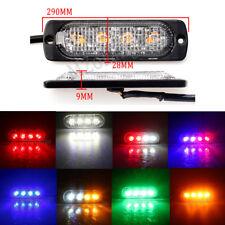 4 LED Strobe Warning Flash Traffic Trunk Light Blue Amber White Red Green 12V-36