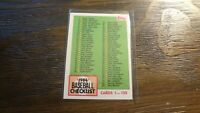 1984 TOPPS CHECKLIST #114  BASEBALL CARD