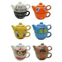 Novelty Teapots for One. Pot Cup Funky Unique Gift for Tea Lover fun quirky