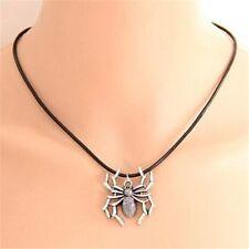 Antique Silver Unisex Spider Halloween Necklace Chain Jewelry Pendant