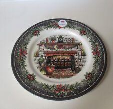 Royal Stafford Christmas Eve Fireplace 6 Dinner Plates NWT