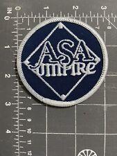 Vintage ASA Umpire Patch Amateur Softball Association USA American National Team