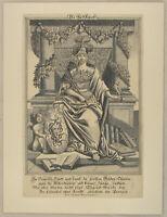 Pallas ATHENE EULE Weisheit Original Kupferstich um 1690 Redekunst Rhetorik