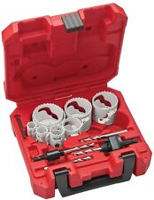 Metal Hole Saw Kit (15-Piece) with 2 Arbors, 4 Pilot Drill Bits, and amp; 1 Hex