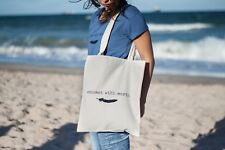 "Organic cotton tote bag ""Connect With Earth"" by Liviandad"