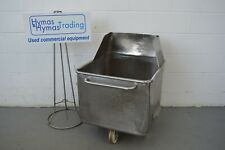 More details for tote bin 200litre with collar. dented but watertight 69cm x 70cm x 95cm high