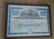 Framed Gulf, Mobile and Ohio Railroad Company share certificate