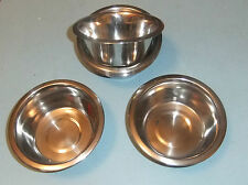 10 x Stainless Steel Bowl, Approx 140mm Diameter, Suitable for Cat, Dog, Camping