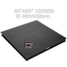 "Floor Scale/Pallet Scale/Platform Scale Postal 10000 lb*1lb 5'x5' 60"" W/Ind Saga"
