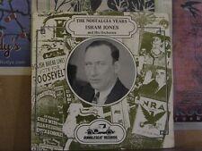ISHAM JONES, NOSTALGIA YEARS VOL 1 RUMBLESEAT LP RS 103