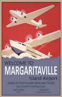Welcome To Margaritaville Island Airport Seaplane Tours 11x17 Two Posters