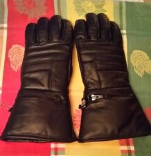 Motorcycle Riding Gloves Black Thinsulate, Zipper Pockets Covers size S