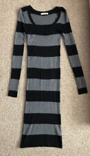 Oasis Jumper dress XS Black And Grey Stripe