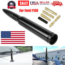 50 Cal Black Bullet Antenna Heavy Gauge CNC Machined Billet Short For Ford F150