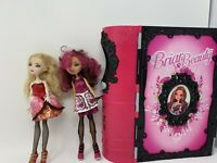 LOT OF 2 MONSTER EVER AFTER HIGH DOLLS W/ BRIAR BEAUTY Book