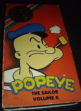 Popeye The Sailor Volume 6 : Cartoon Classics Collection VHS ~ 084296004041