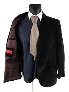 Pierre Cardin Men's Black Corduroy Cotton Blazer Jacket Size 28