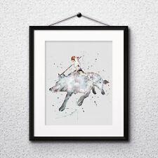 Anime Princess Mononoke poster Print instant download Watercolor - DIGITAL file