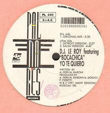 DJ LE ROY - Yo Te Quiero, Feat. Bocachica - 1991 Palmares Italia - PL 330
