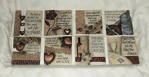 History & Heraldry Resin Wall Plaques -  Various Life Sayings -  NEW