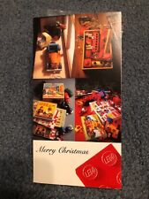 Vintage 1980s 1982 Lego Employee Gift 50th Anniversary Christmas Card wood duck
