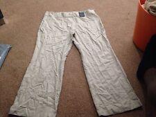 M&S Mezcla De Lino inteligente de Piedra Pantalones Pantalones Tamaño 20 Medio Bnwt SAMEDAY LIBRE P&P