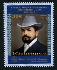 Nicaragua 2016 Ruben Dario Schriftsteller Poet Gemälde Painting ** MNH