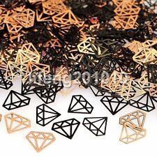Black metal nail foil decals For 3d nail art decorations tools diamonds design