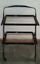 CARRELLO ANNI 50 CESARE LACCA CART - WITH DOUBLE PULL-OUT TRAY