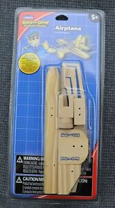 (B7) Lowe's Airplane Build And Grow Toy Wood Model Kit With Sticker Included