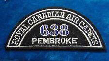 CANADA Royal Canadian Air Cadets PEMBROKE 638 squadron shoulder flash