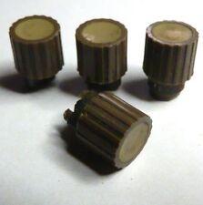 KN18 kl. Drehknopf Knopf für Transistor Geräte Radios 70er-Jahre braun