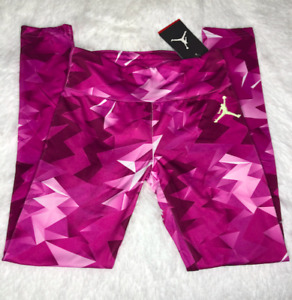 Jordan Girls Youth Dri Fit Leggings Fuchsia Flash Size Medium 452528-P82