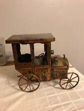 Vintage Copper  Music Box Antique Car w/  Moving Hood w/ Music