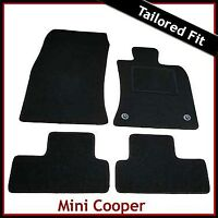 Mini Cooper / Copper S Mk2 R56 2006-2013 2-Clips Tailored Carpet Mats BLACK