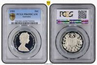 1981 AUSTRALIA 50 CENTS PCGS PR69DCAM PROOF COIN IN HIGH GRADE