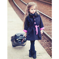 Girl Trench Coat Wind Jacket 2-9Y Baby Dress Kids Hoodie Clothes Outwear Autumn