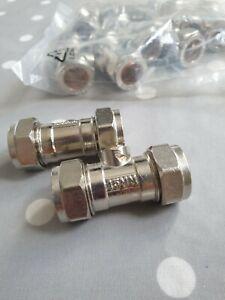 Isolating ball valve 15mm plumbing isolator valve EN1254-2 pack of 10