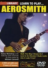 Lick Library LEARN TO PLAY AEROSMITH American Rock Guitar Lessons 2 Video DVDs