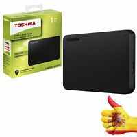 "Disco duro externo Toshiba Canvio Basics 1TB 2.5"" USB 3.0 color negro"