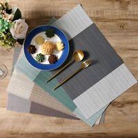 4PCS  Placemats  Kitchen Table Non-slip Pad Coasters  Heat-resistant Table Decor