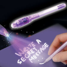 INVISIBLE WRITING PEN UV LIGHT ULTRA VIOLET INK HIDDEN SECRET MESSAGE LED MARKER