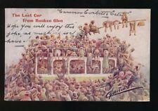 Scotland Renfrewshire ROUKEN GLEN  comic last car Artist Cynicus 1907 PPC