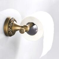 Wall Mounted Toilet Paper Holder Vintage Brass Bathroom Tissue Roll Rack