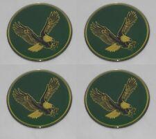 """4 - GREEN BIRD EAGLE LOGO WHEEL RIM CENTER CAP ROUND DECAL STICKER 1-15/16"""" 49mm"""